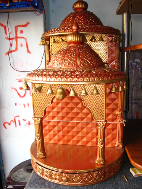 WOODEN MANDIR TEMPLE FURNITURE ITEM