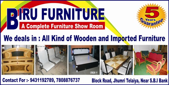BIRU FURNITURE SHOWROOM IN JHUMRI TELAIYA