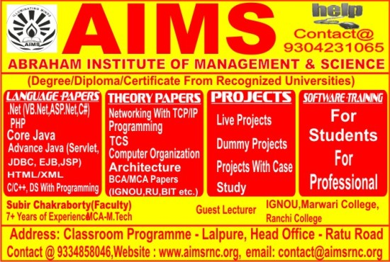 IT SERVICES & COACHING INSTITUTE IN RANCHI