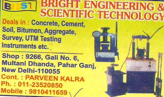BRIGHT ENGINEERING & SCIENTIFIC TECHNOLOGY NEW DELHI