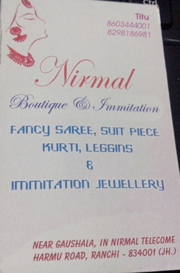 BOUTIQUE IN RATU ROAD RANCHI