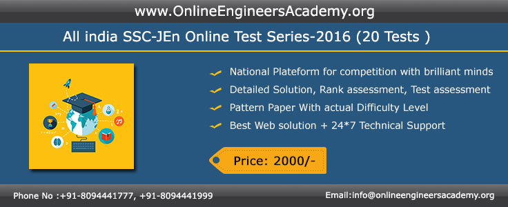 ONLINE TEST SERIES FOR SSC JE IN PATNA