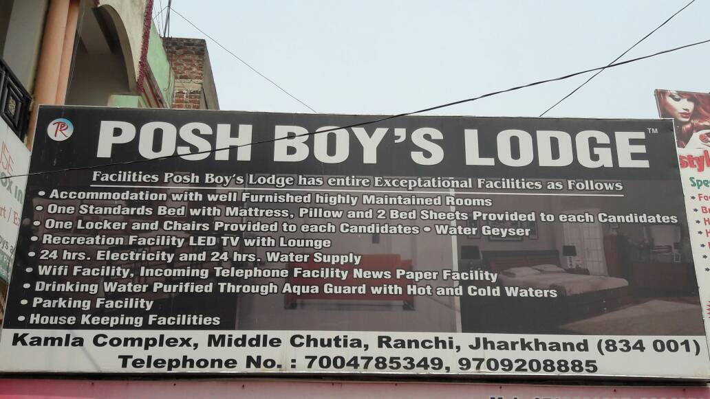 POSH BOYS LODGE IN RANCHI