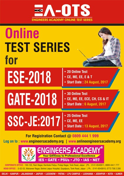 ONLINE TEST SERIES FOR GATE IN PATNA