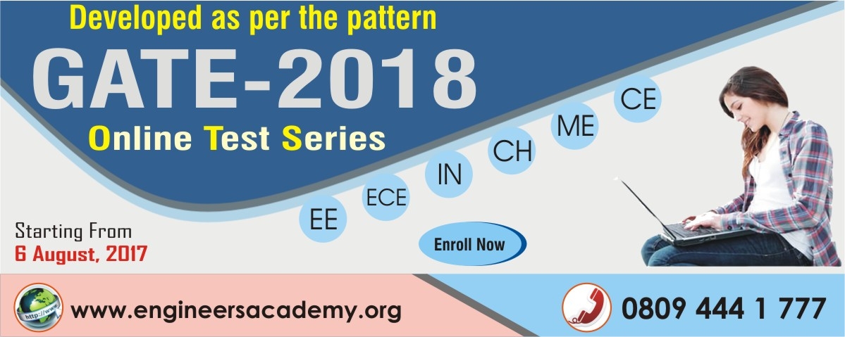 ONLINE TEST SERIES COACHING FOR GATE 2018 IN PATNA