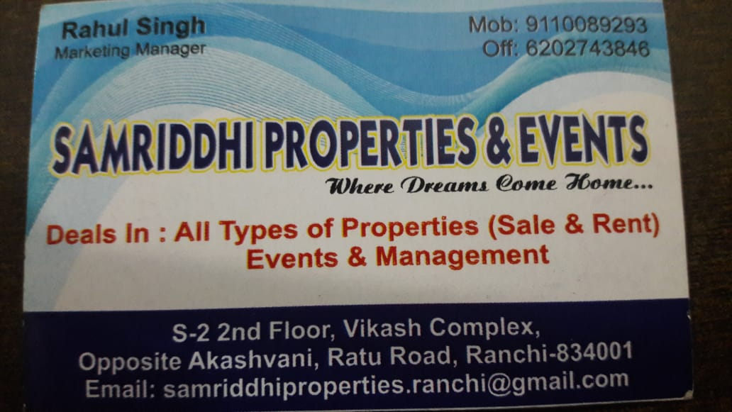 SAMRIDDHI PROPERTIES IN RANCHI