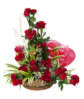 51 RED ROSES HEART SHAPE ARRANGEMEN